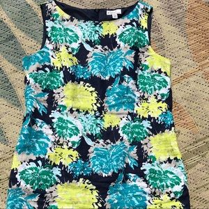 Festive and fun floral linen dress!